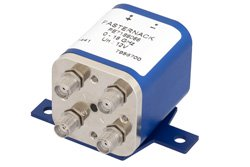 PE71S6066 - Transfer Electromechanical Relay Failsafe Switch DC to 18 GHz, SMA, 100 Watts, 12V Control