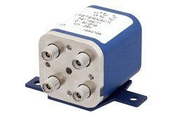 PE71S6071 - Transfer Electromechanical Relay Latching Switch DC to 40 GHz, 2.92mm, 10 Watts, 30V Indicator, 28V Control with Indicators, Self Cut Off