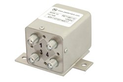 PE71S6110 - Transfer Electromechanical Relay Failsafe Switch DC to 26.5 GHz, SMA, 20 Watts, 12V Control