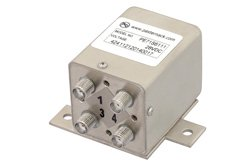 PE71S6111 - Transfer Electromechanical Relay Failsafe Switch DC to 26.5 GHz, SMA, 20 Watts, 28V Control