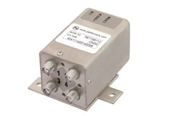 PE71S6112 - Transfer Electromechanical Relay Failsafe Switch DC to 26.5 GHz, SMA, 20 Watts, 12V Control, Indicators, TTL, Diodes