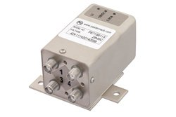 PE71S6113 - Transfer Electromechanical Relay Failsafe Switch DC to 26.5 GHz, SMA, 20 Watts, 28V Control, Indicators, TTL, Diodes