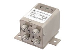 PE71S6114 - Transfer Electromechanical Relay Latching Switch DC to 26.5 GHz, SMA, 20 Watts, 12V Control, Self Cut Off, Diodes