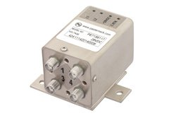 PE71S6117 - Transfer Electromechanical Relay Latching Switch DC to 26.5 GHz, SMA, 20 Watts, 28V Control, Indicators, TTL, Self Cut Off, Diodes