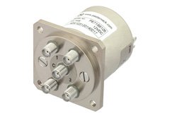 SP4T Electromechanical Relay Normally Open Switch, DC to 22 GHz, 20W, 12V, SMA