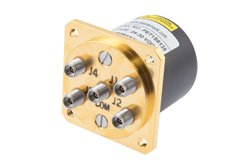 SP4T Electromechanical Relay Normally Open Switch, DC to 40 GHz, 3W, 28V, 2.92mm