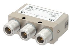 SPDT Electromechanical Relay Failsafe Switch, DC to 12.4 GHz, 160W, 28V, N