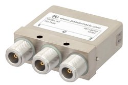 SPDT Electromechanical Relay Latching Switch, DC to 12.4 GHz, 160W, 12V Self Cut Off, Diodes, N