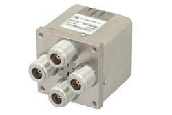 PE71S6168 - Transfer Electromechanical Relay Failsafe Switch DC to 12.4 GHz, N, 50 Watts, 12V Control, Indicators, TTL, Diodes