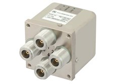 PE71S6169 - Transfer Electromechanical Relay Failsafe Switch DC to 12.4 GHz, N, 50 Watts, 28V Control, Indicators, TTL, Diodes