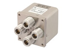 PE71S6170 - Transfer Electromechanical Relay Latching Switch DC to 12.4 GHz, N, 50 Watts, 12V Control, Self Cut Off, Diodes