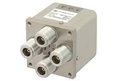 PE71S6171 - Transfer Electromechanical Relay Latching Switch DC to 12.4 GHz, N, 50 Watts, 28V Control with Self Cut Off, Diodes