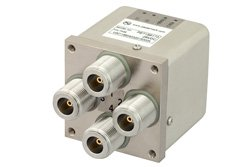 PE71S6173 - Transfer Electromechanical Relay Latching Switch, DC to 12.4 GHz, 50W, 28V Indicators, TTL, Self Cut Off, Diodes, N
