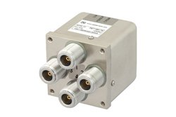 PE71S6176 - Transfer Electromechanical Relay Failsafe Switch DC to 12.4 GHz, N, 160 Watts, 12V Control, Indicators, TTL, Diodes