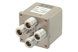 PE71S6178 - Transfer Electromechanical Relay Latching Switch DC to 12.4 GHz, N, 160 Watts, 12V Control, Self Cut Off, Diodes