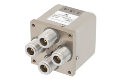 PE71S6179 - Transfer Electromechanical Relay Latching Switch DC to 12.4 GHz, N, 160 Watts, 28V Control with Self Cut Off, Diodes