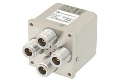 PE71S6181 - Transfer Electromechanical Relay Latching Switch DC to 12.4 GHz, N, 160 Watts, 28V Control, Indicators, TTL, Self Cut Off, Diodes