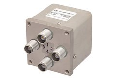 PE71S6202 - Transfer Electromechanical Relay Failsafe Switch DC to 12.4 GHz, TNC, 50 Watts, 12V Control