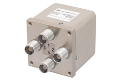 PE71S6203 - Transfer Electromechanical Relay Failsafe Switch DC to 12.4 GHz, TNC, 50 Watts, 28V Control