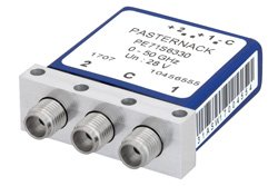 SPDT Electromechanical Relay Latching Switch, DC to 50 GHz, 28V, 2.4mm