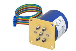 SP4T 0.05 dB Low Insertion Loss Repeatability Relay Latching Switch, Terminated, DC to 40 GHz, 5W, 24V, Indicators, Self Cut Off, 2.92mm