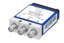SPDT 0.03 dB Low Insertion Loss Repeatability Electromechanical Relay Latching Switch, DC to 20 GHz, 1W, 24V Indicators, Self Cut Off, SMA