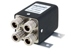 PE71S6403 - Transfer Electromechanical Relay Failsafe Switch, DC to 12 GHz, up to 600W, 28V, N