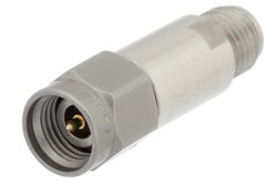 10 dB Fixed Attenuator, 2.92mm Male to 2.92mm Female Passivated Stainless Steel Body Rated to 2 Watts Up to 40 GHz