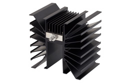 50 dB Fixed Attenuator SMA Male To SMA Male Directional Black Aluminum Heatsink Body Rated To 300 Watts Up To 3 GHz