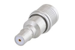 1 dB Fixed Attenuator, QMA Male to QMA Female Brass Tri-Metal Body Rated to 1 Watt Up to 6 GHz