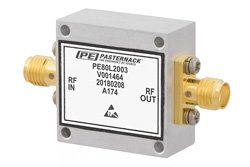 High Power Limiter, Field Replaceable SMA, 100W Peak Power, 15 us Recovery, 13 dBm Flat Leakage, 20 MHz to 4 GHz