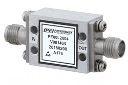 High Power Limiter, Field Replaceable SMA, 100W Peak Power, 15 us Recovery, 18 dBm Flat Leakage, 8 GHz to 12 GHz