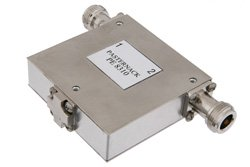 PE8310 - Isolator With 18 dB Isolation From 1 GHz to 2 GHz, 10 Watts And N Female