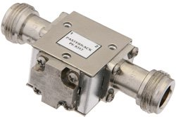 PE8312 - Isolator With 18 dB Isolation From 4 GHz to 8 GHz, 10 Watts And N Female