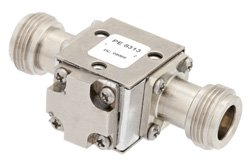 PE8313 - Isolator With 20 dB Isolation From 7 GHz to 12.4 GHz, 10 Watts And N Female