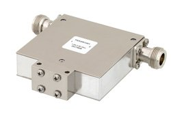 PE83IR1001 - High Power Isolator with 18 dB Isolation from 1 GHz to 2 GHz, 100 Watts and N Female