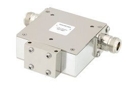PE83IR1003 - High Power Isolator with 20 dB Isolation from 1.7 GHz to 2.2 GHz, 100 Watts and N Female