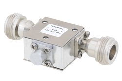 PE83IR1009 - High Power Isolator With 20 dB Isolation From 7 GHz to 12.4 GHz, 50 Watts And N Female