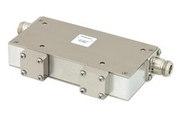 PE83IR1016 - Dual Junction Isolator with 40 dB Isolation from 1.7 GHz to 2.2 GHz, 50 Watts and N Female