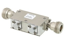 PE83IR1022 - Dual Junction Isolator With 40 dB Isolation From 7 GHz to 12.4 GHz, 5 Watts And N Female