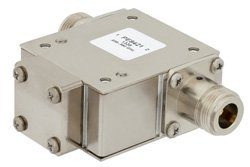 PE8421 - High Power Isolator With 18 dB Isolation From 698 MHz to 960 MHz, 1000 Watts And N Female