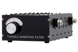 5 Section Tunable Band Pass Filter With N Female Connectors Operating From 125 MHz to 250 MHz With a 5% Bandwidth