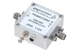 Frequency Divider, Divide by 12 Prescaler Module, 100 MHz to 13 GHz, SMA