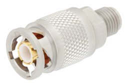 Precision SMA Female to ZMA Plug Adapter 4 Lug