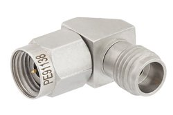 2.4mm Male to 2.4mm Female Right Angle Adapter