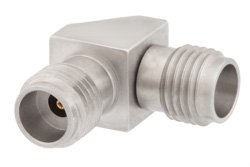 2.4mm Female to 2.4mm Female Right Angle Adapter