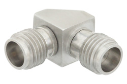 1.85mm Female to 2.4mm Female Right Angle Adapter