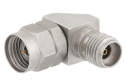 1.85mm Male to 2.92mm Female Right Angle Adapter