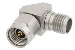 2.92mm Female to 3.5mm Male Right Angle Adapter