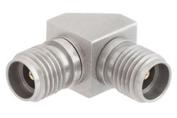 3.5mm Female to 3.5mm Female Right Angle Adapter
